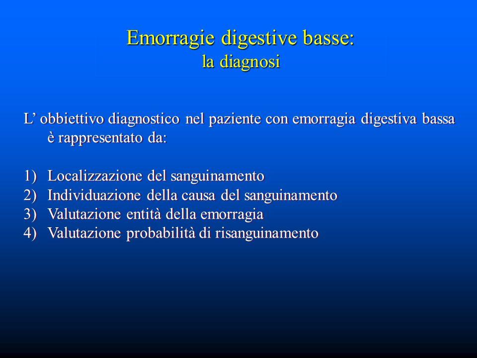 Emorragie digestive basse: la diagnosi