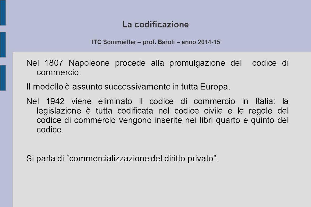La codificazione ITC Sommeiller – prof. Baroli – anno 2014-15