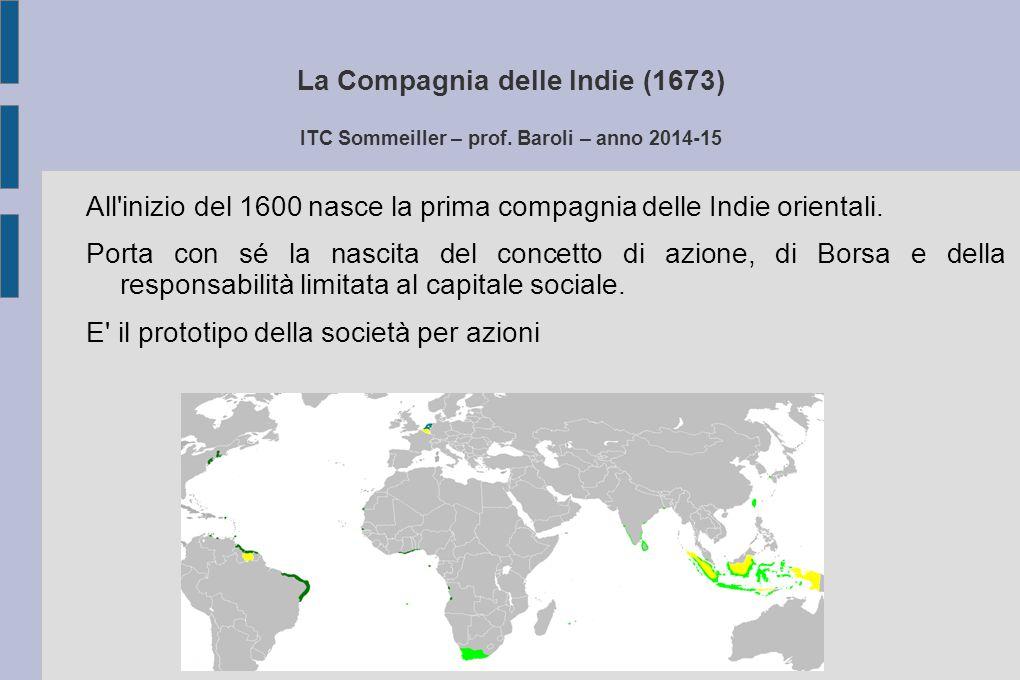 La Compagnia delle Indie (1673) ITC Sommeiller – prof