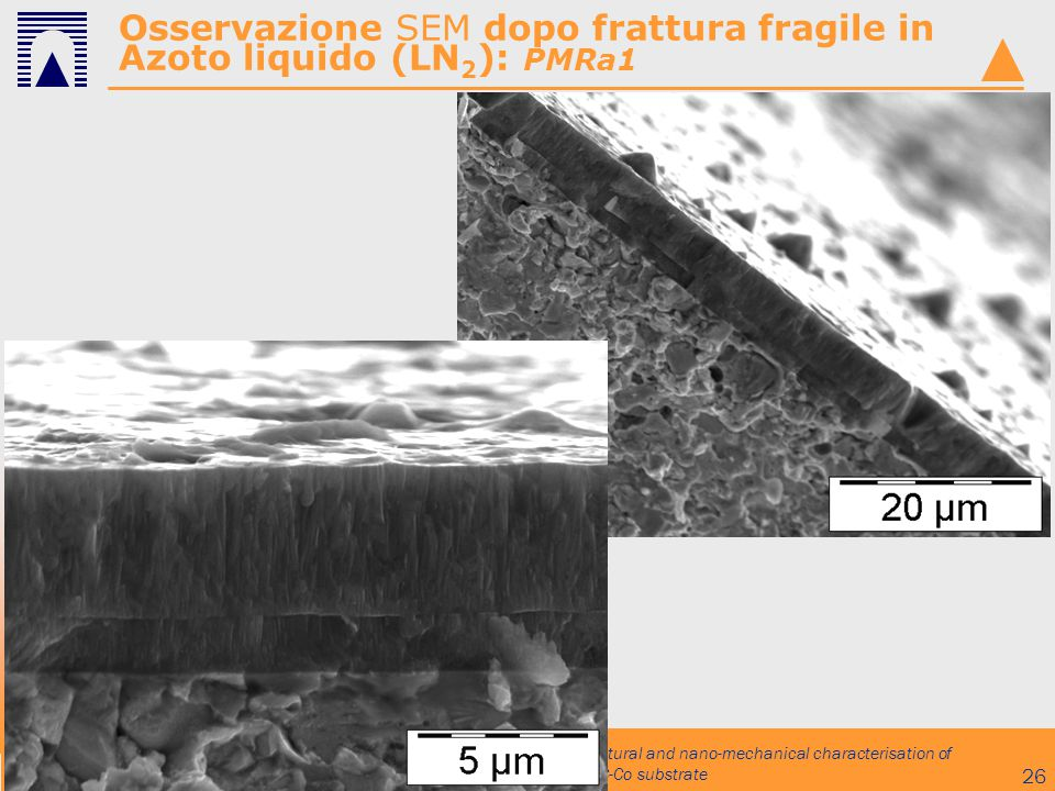 Osservazione SEM dopo frattura fragile in Azoto liquido (LN2): PMRa1