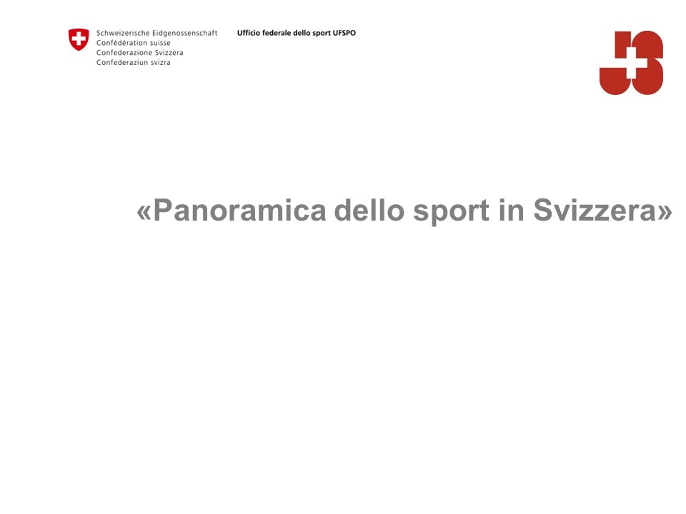 «Panoramica dello sport in Svizzera»