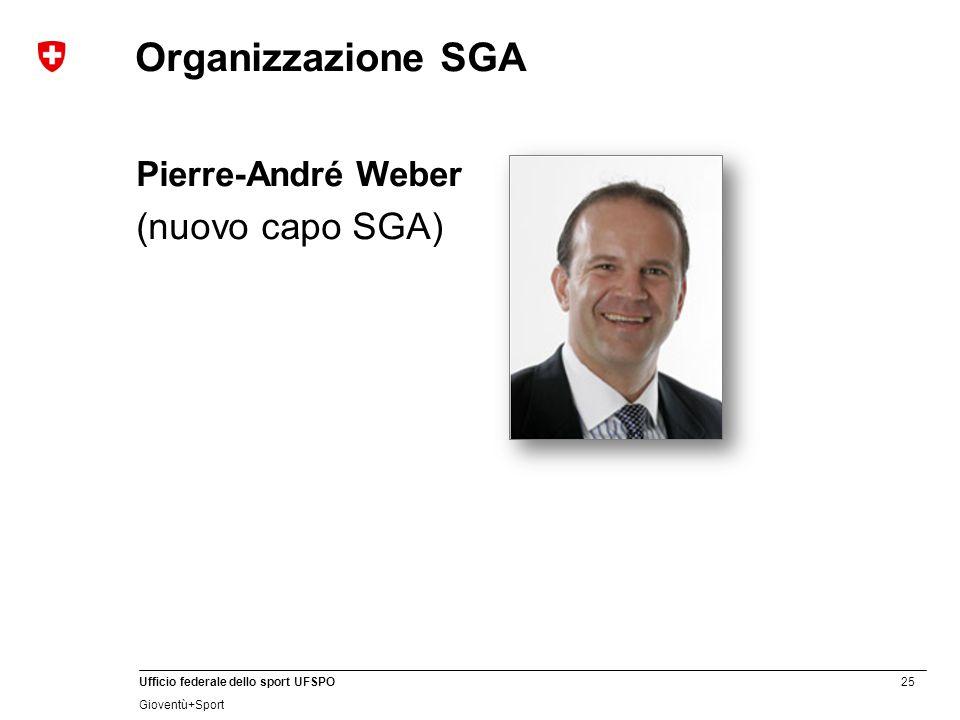 Organizzazione SGA Pierre-André Weber (nuovo capo SGA)