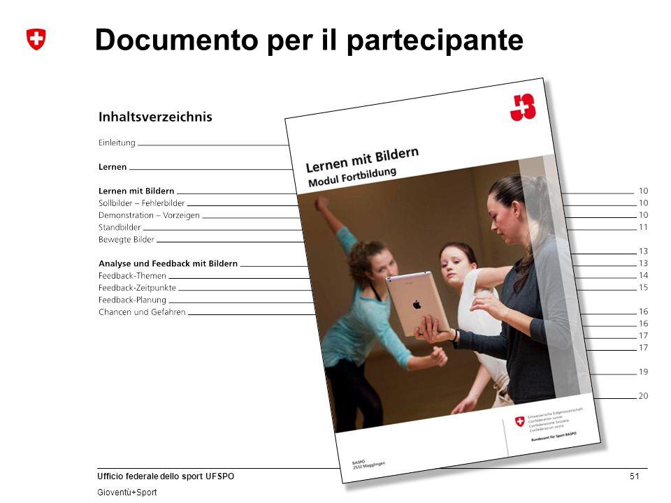 Documento per il partecipante