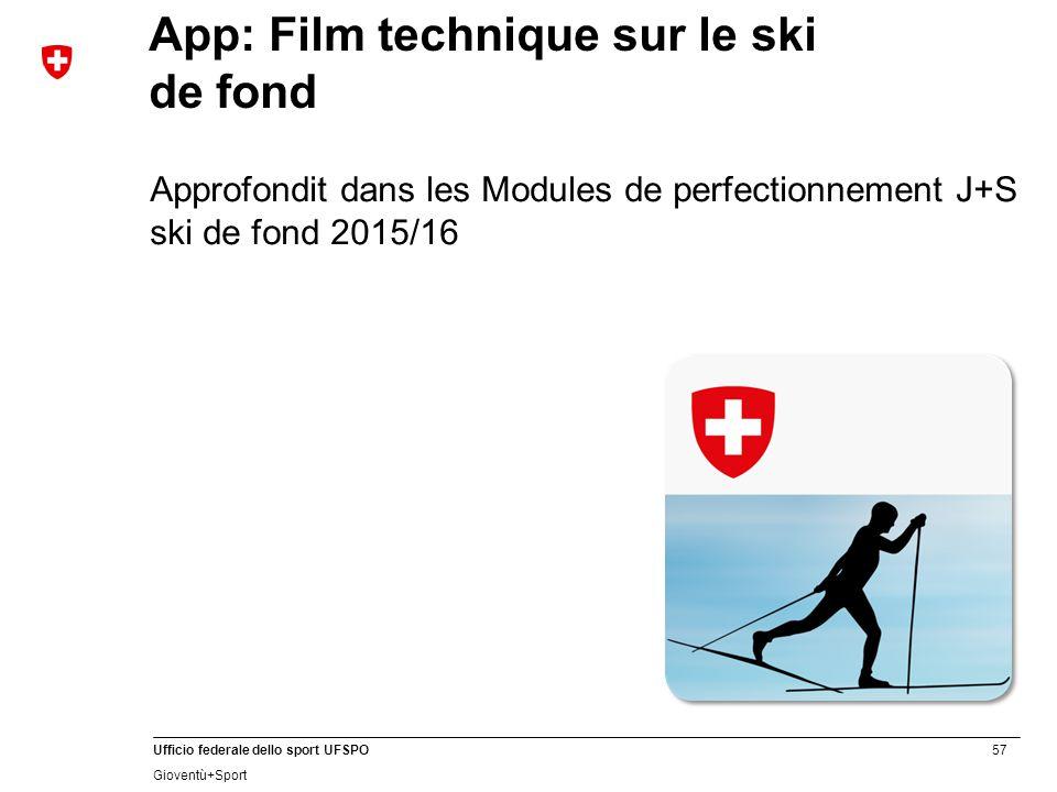 App: Film technique sur le ski de fond