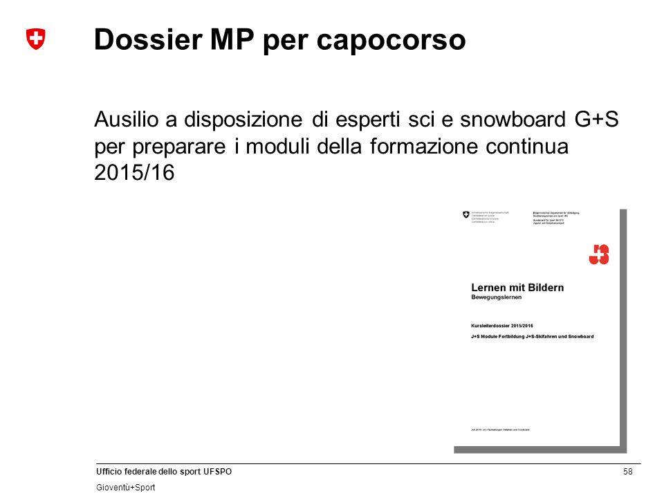 Dossier MP per capocorso