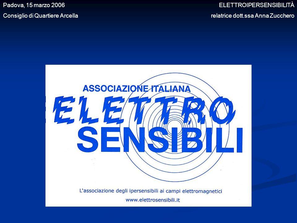 Padova, 15 marzo 2006 ELETTROIPERSENSIBILITÀ