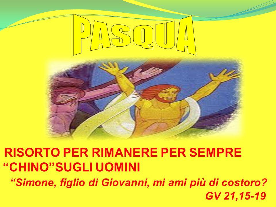 PASQUA Simone, figlio di Giovanni, mi ami più di costoro GV 21,15-19