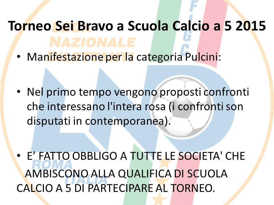 Torneo Sei Bravo a Scuola Calcio a 5 2015