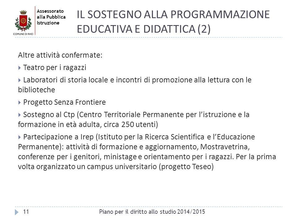 IL SOSTEGNO ALLA PROGRAMMAZIONE EDUCATIVA E DIDATTICA (2)