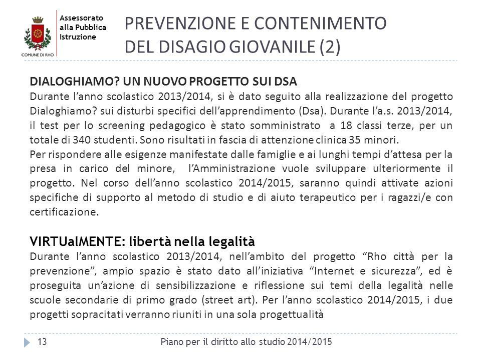 PREVENZIONE E CONTENIMENTO DEL DISAGIO GIOVANILE (2)