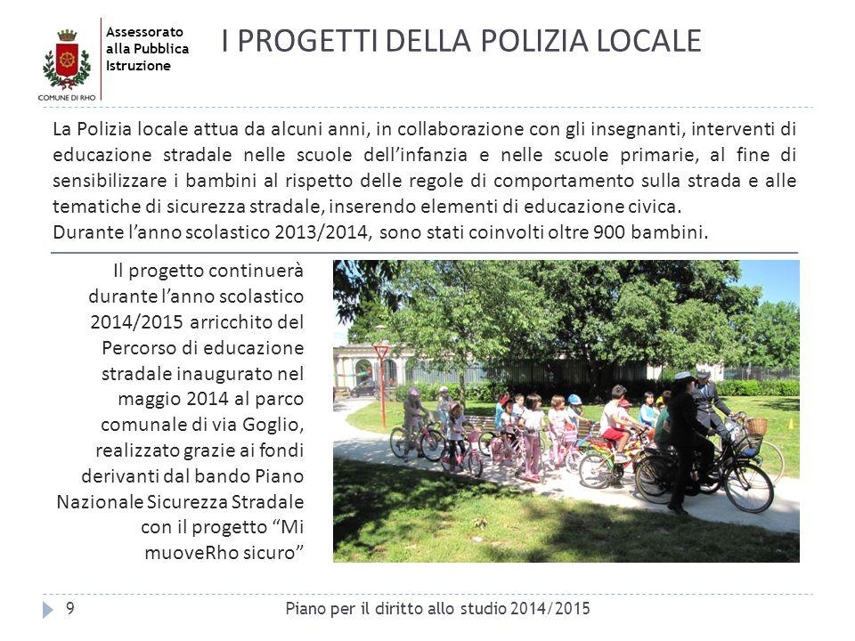 I PROGETTI DELLA POLIZIA LOCALE