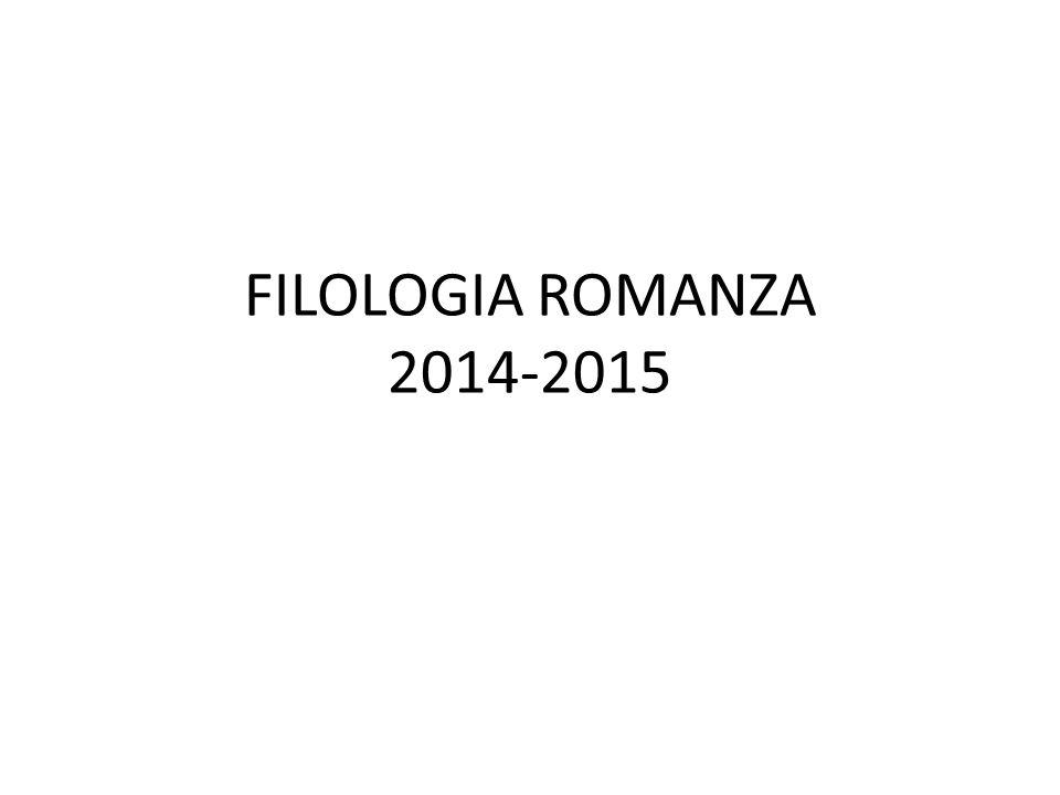FILOLOGIA ROMANZA 2014-2015