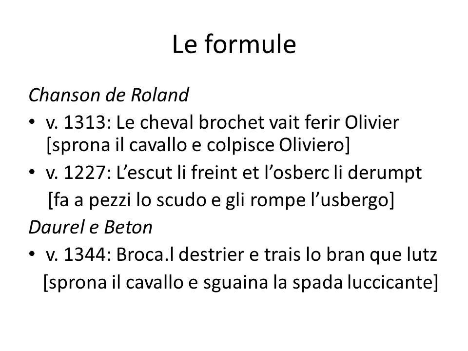 Le formule Chanson de Roland