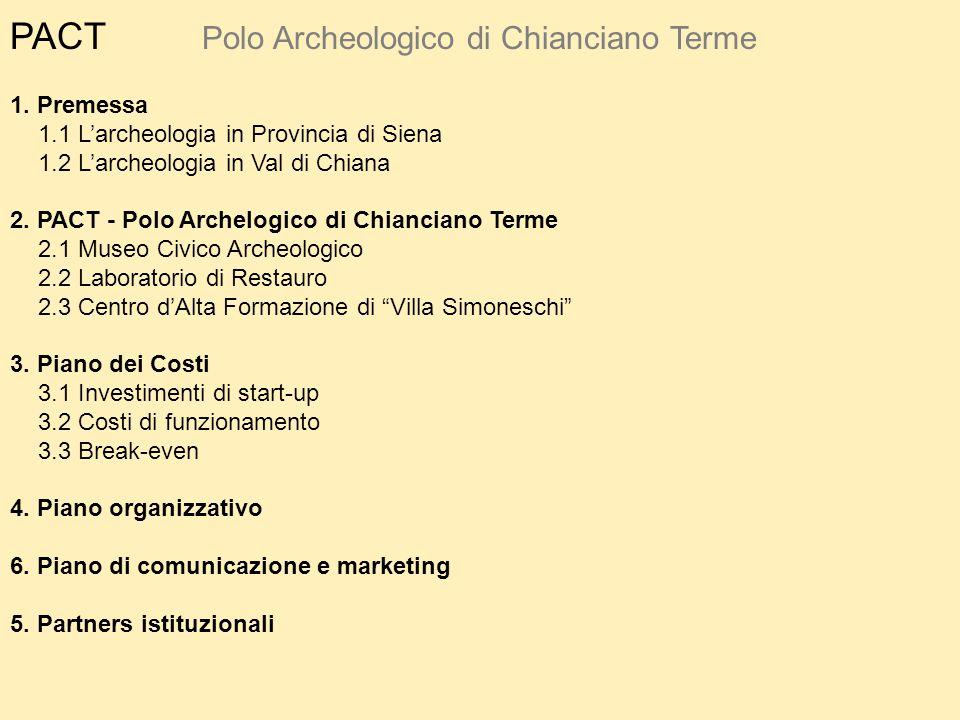 PACT Polo Archeologico di Chianciano Terme 1. Premessa
