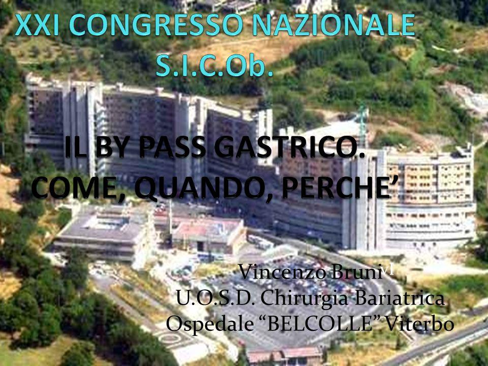 XXI CONGRESSO NAZIONALE S. I. C. Ob. IL BY PASS GASTRICO