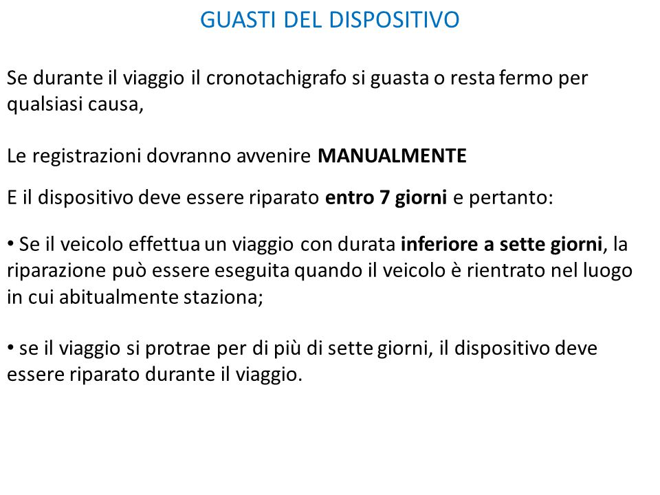 GUASTI DEL DISPOSITIVO