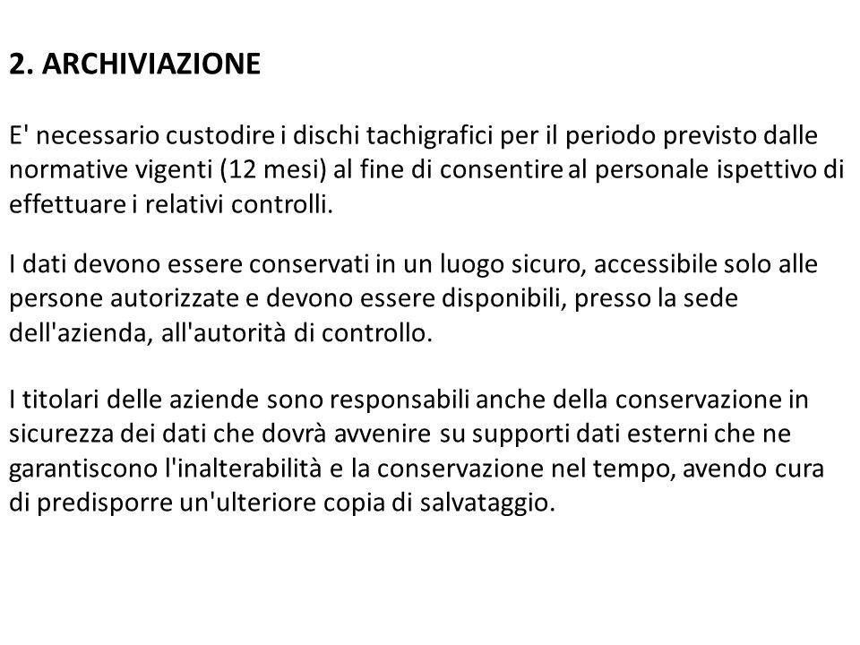 2. ARCHIVIAZIONE