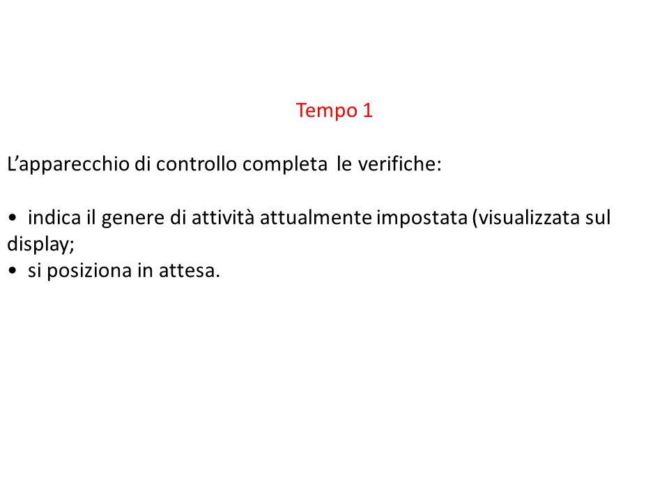Tempo 1 L'apparecchio di controllo completa le verifiche: • indica il genere di attività attualmente impostata (visualizzata sul display;