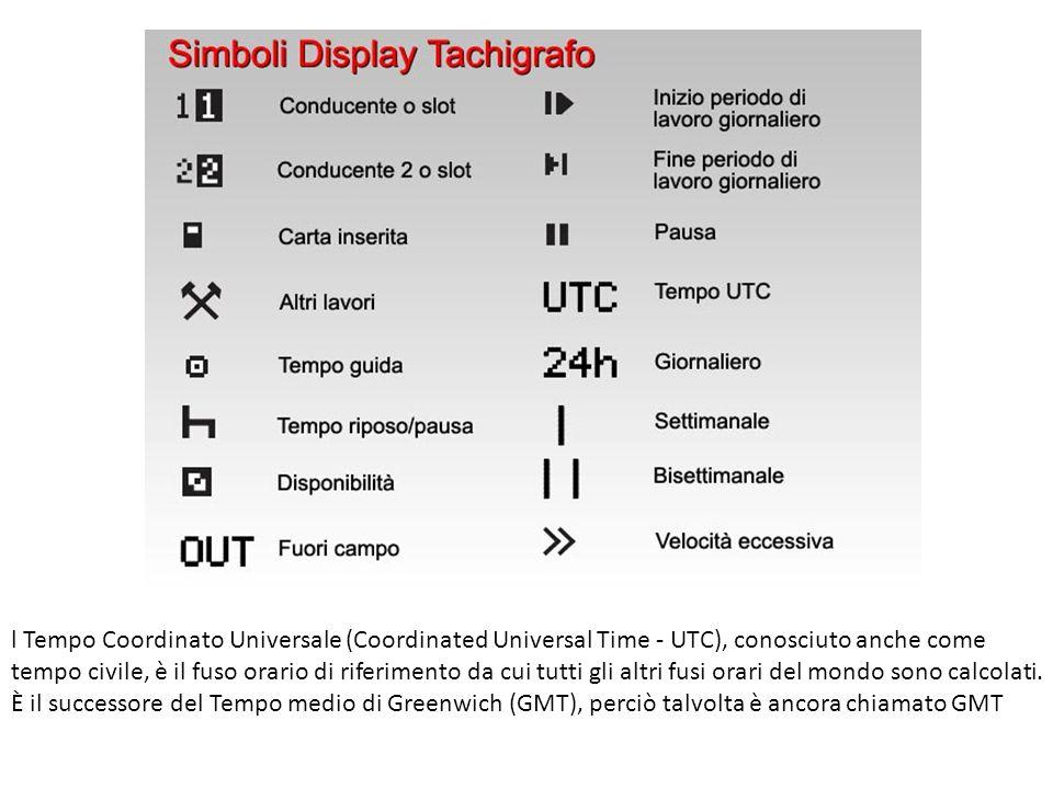 l Tempo Coordinato Universale (Coordinated Universal Time - UTC), conosciuto anche come tempo civile, è il fuso orario di riferimento da cui tutti gli altri fusi orari del mondo sono calcolati.