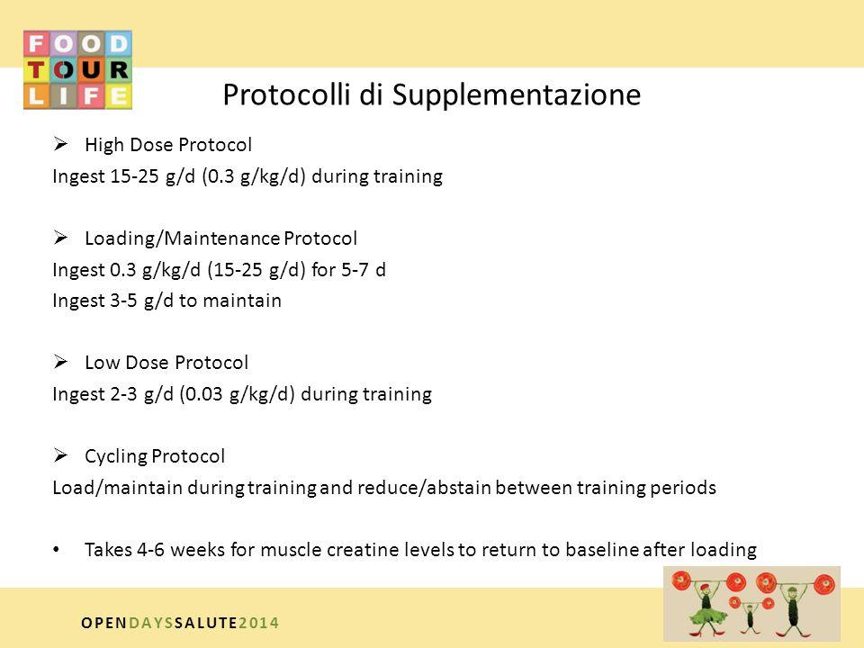 Protocolli di Supplementazione
