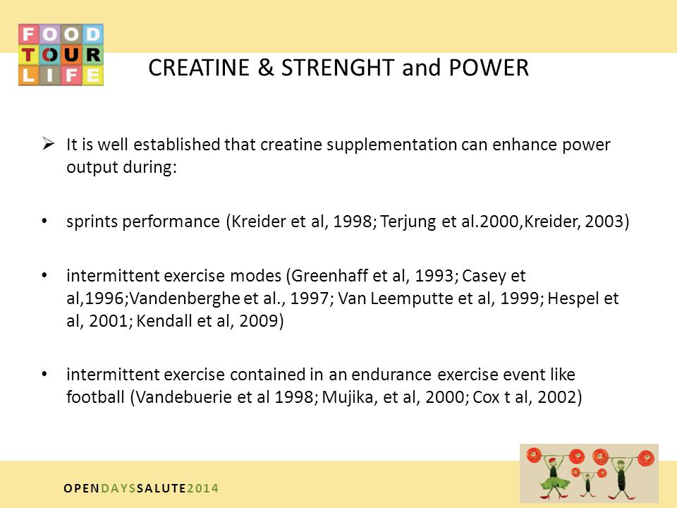 CREATINE & STRENGHT and POWER