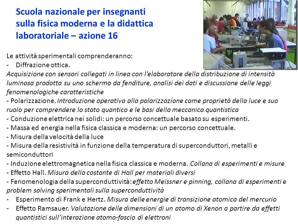 Scuola nazionale per insegnanti sulla fisica moderna e la didattica laboratoriale – azione 16