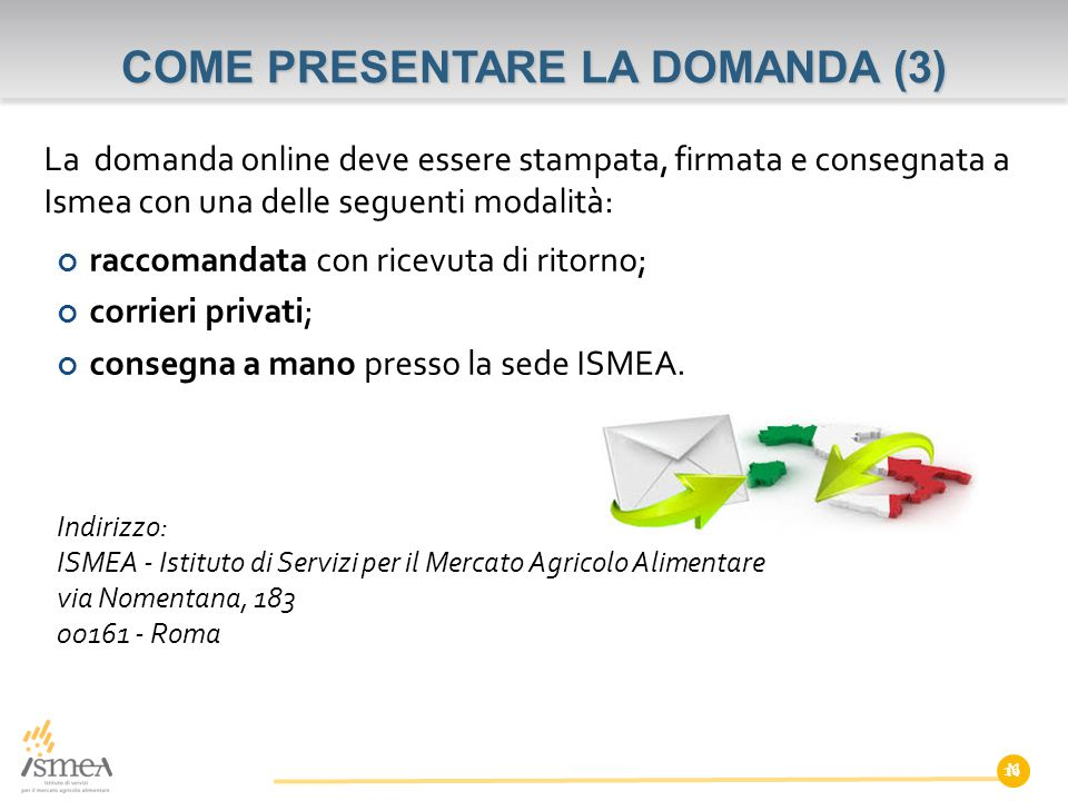 COME PRESENTARE LA DOMANDA (3)