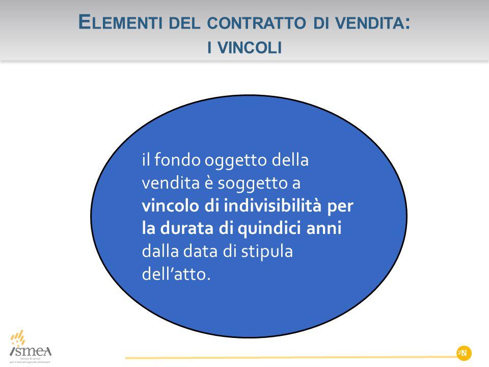 Elementi del contratto di vendita: i vincoli