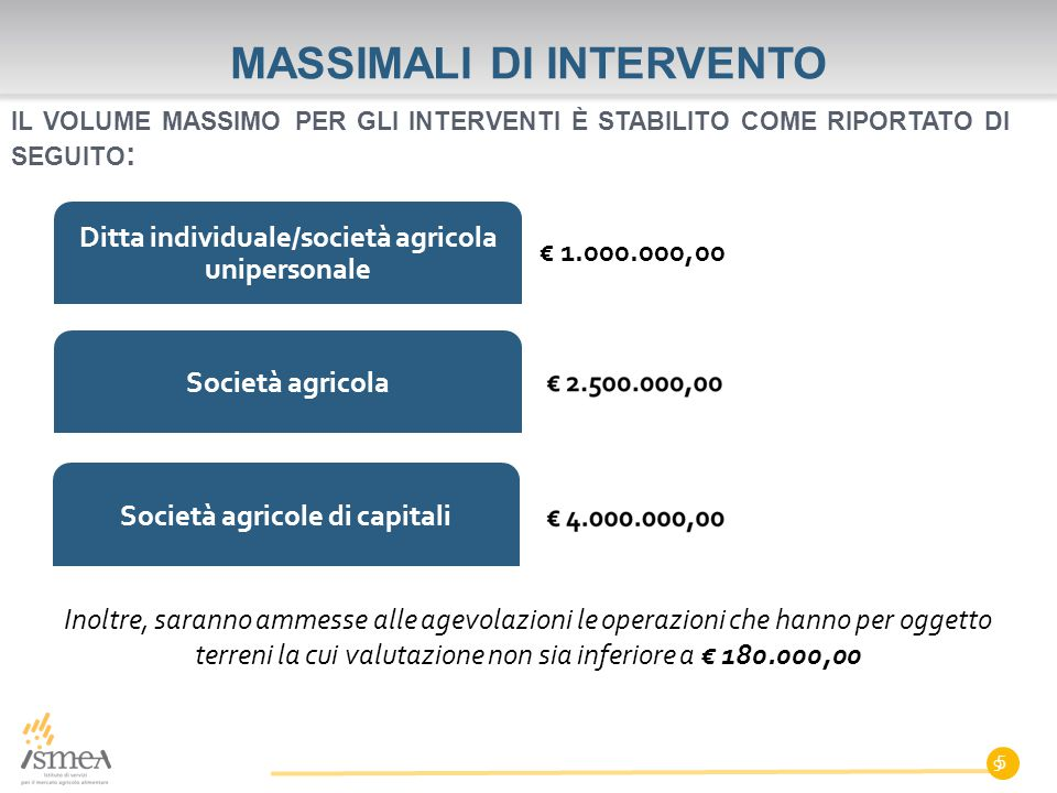 MASSIMALI DI INTERVENTO