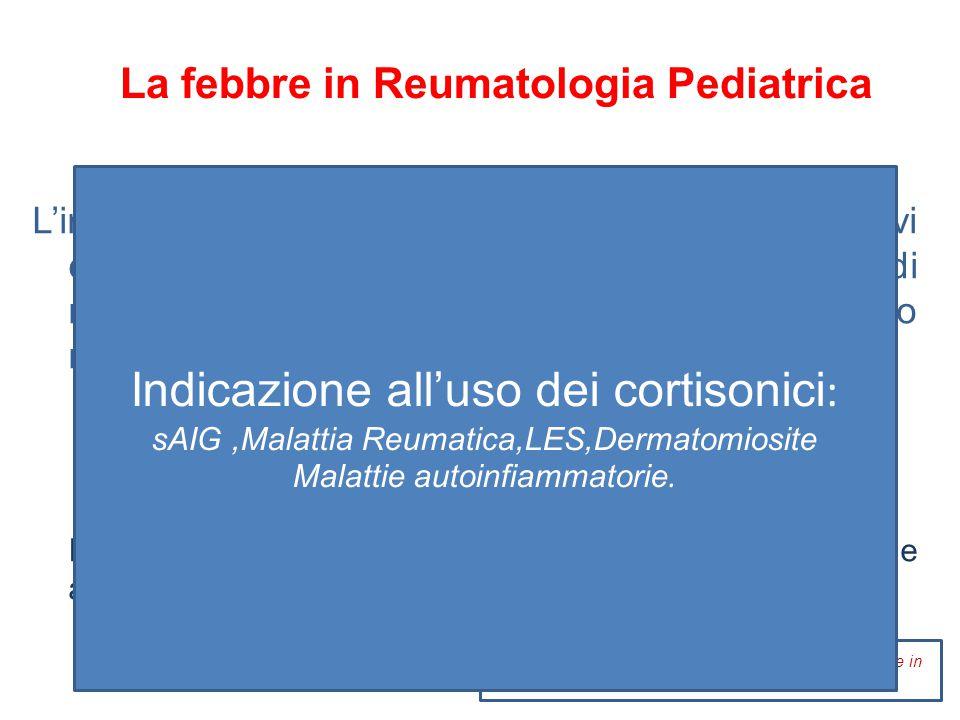 La febbre in Reumatologia Pediatrica