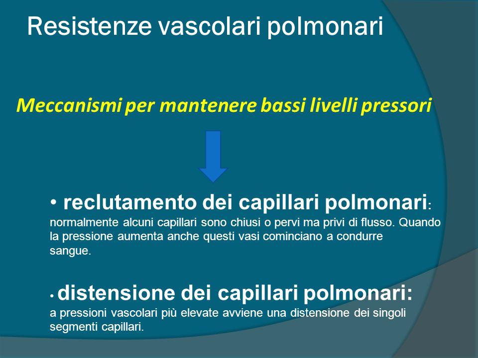 Resistenze vascolari polmonari