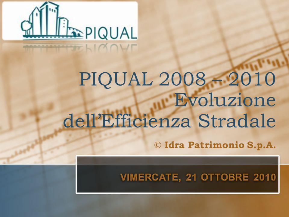 PIQUAL 2008 – 2010 Evoluzione dell'Efficienza Stradale © Idra Patrimonio S.p.A.