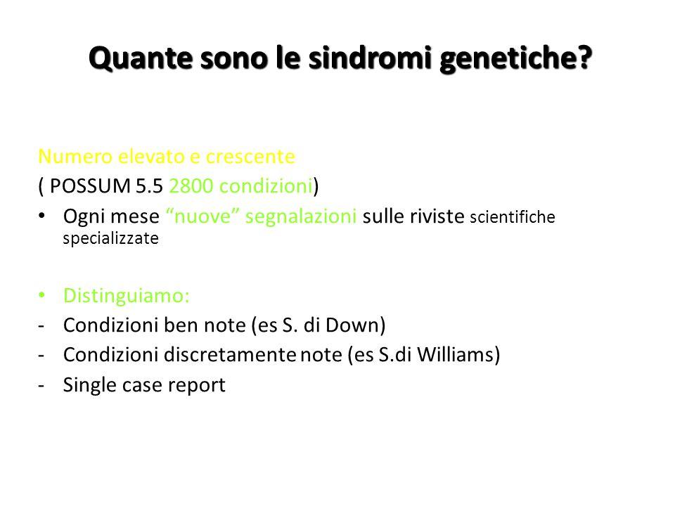 Quante sono le sindromi genetiche