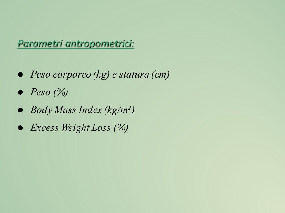 Parametri antropometrici: