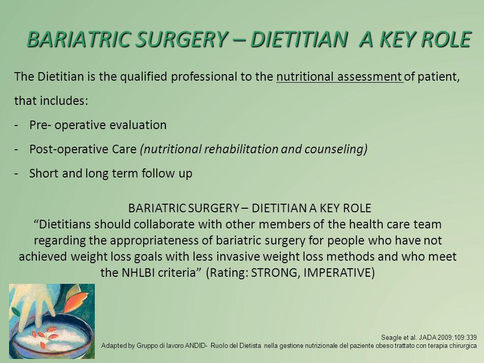 BARIATRIC SURGERY – DIETITIAN A KEY ROLE
