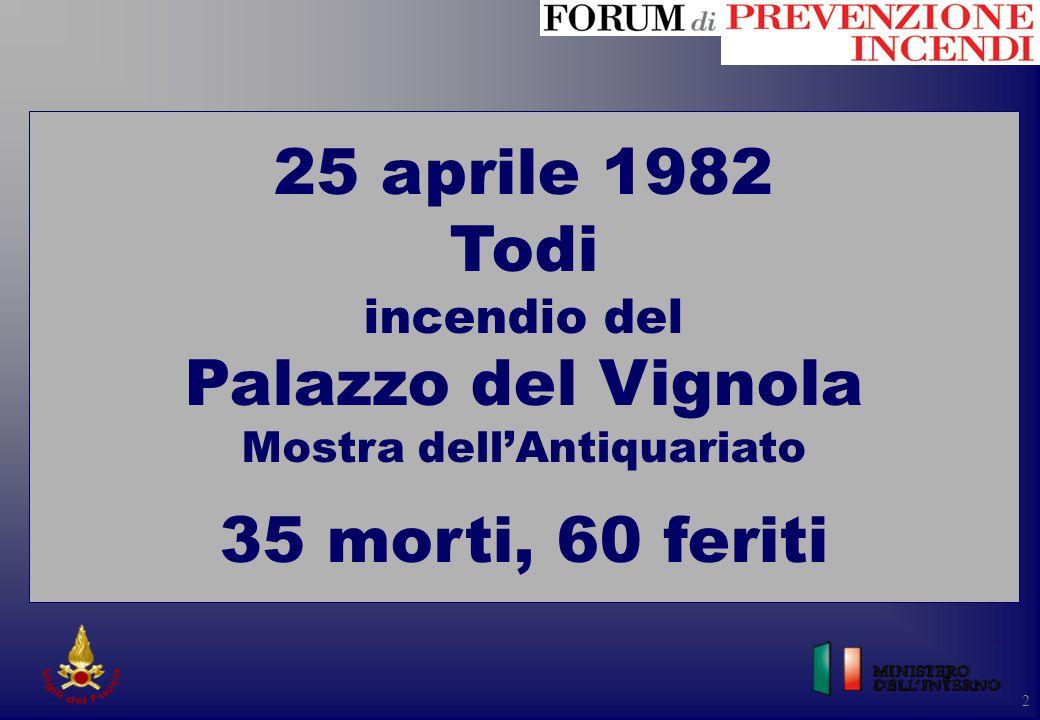 25 aprile 1982 Todi incendio del Palazzo del Vignola Mostra dell'Antiquariato 35 morti, 60 feriti