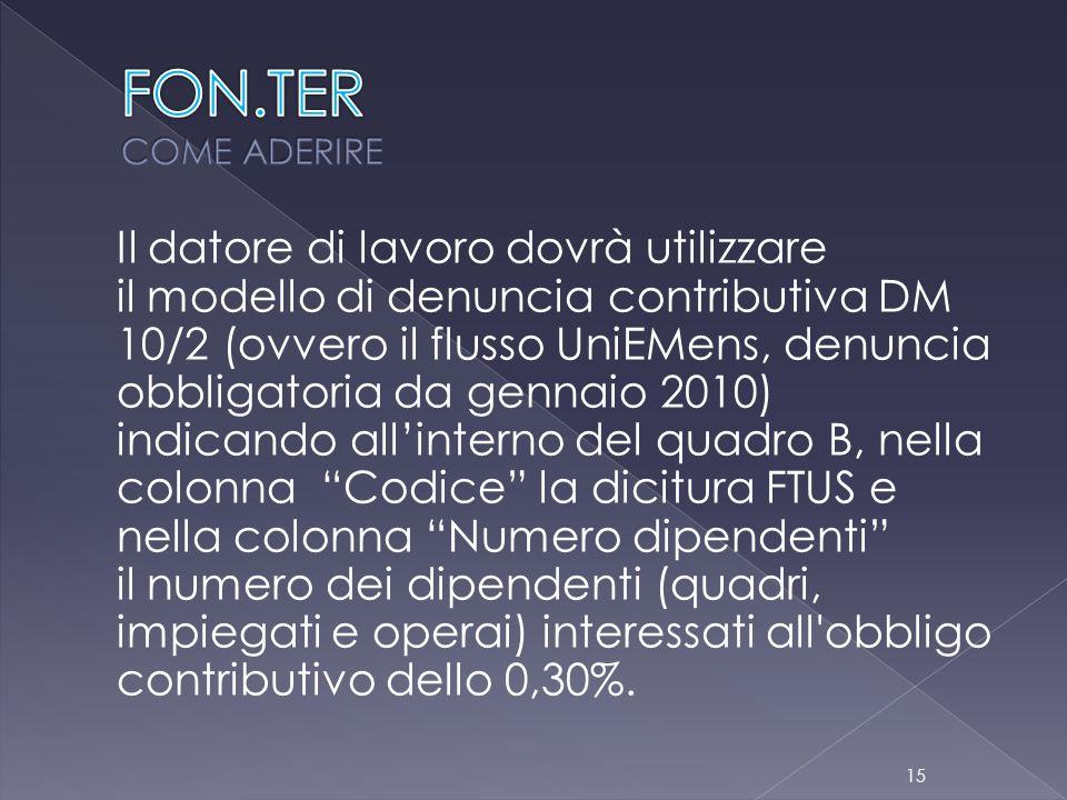 FON.TER COME ADERIRE