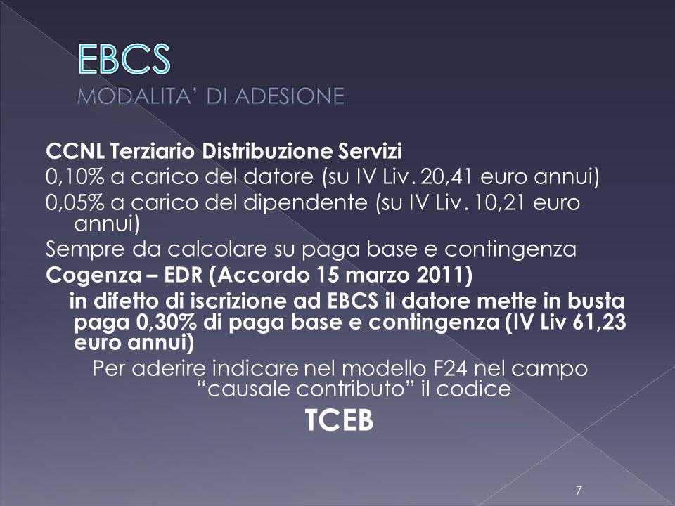 EBCS MODALITA' DI ADESIONE