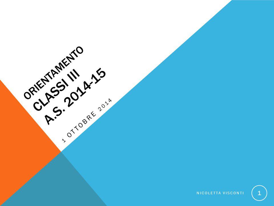 Orientamento classi III a.s. 2014-15