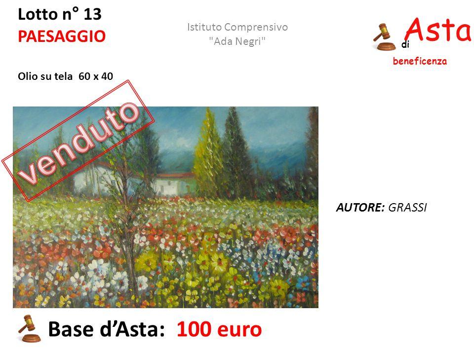 venduto Asta beneficenza Base d'Asta: 100 euro Lotto n° 13 PAESAGGIO