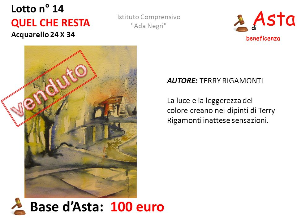 venduto Asta beneficenza Base d'Asta: 100 euro Lotto n° 14