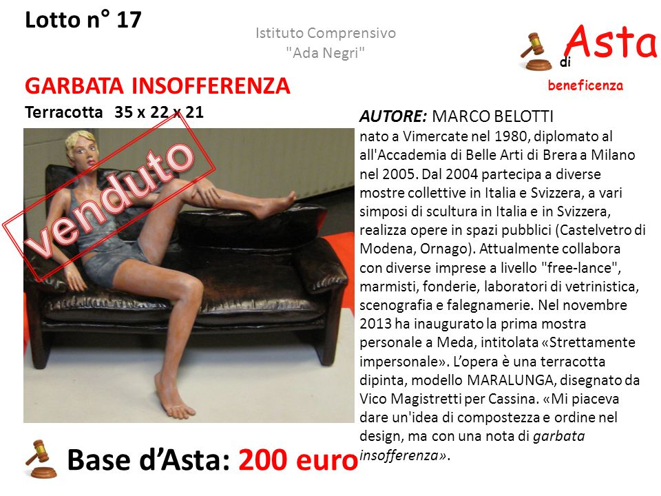 venduto Asta beneficenza Base d'Asta: 200 euro Lotto n° 17