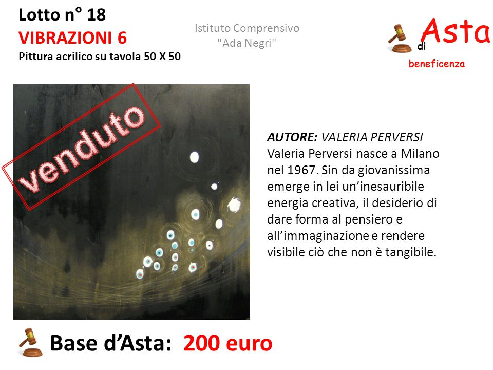 venduto Asta beneficenza Base d'Asta: 200 euro Lotto n° 18