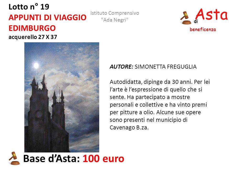 Asta beneficenza Base d'Asta: 100 euro Lotto n° 19 APPUNTI DI VIAGGIO
