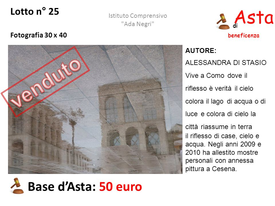 venduto Asta beneficenza Base d'Asta: 50 euro Lotto n° 25