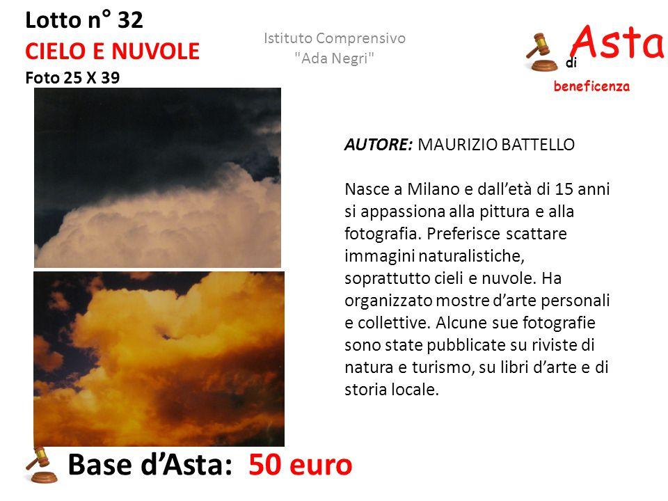 Asta beneficenza Base d'Asta: 50 euro Lotto n° 32 CIELO E NUVOLE