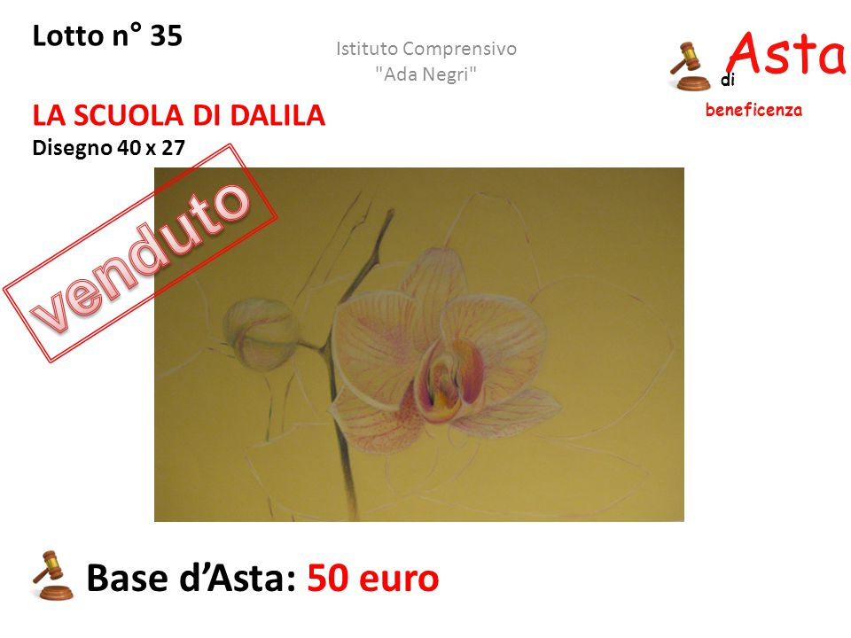 venduto Asta beneficenza Base d'Asta: 50 euro Lotto n° 35