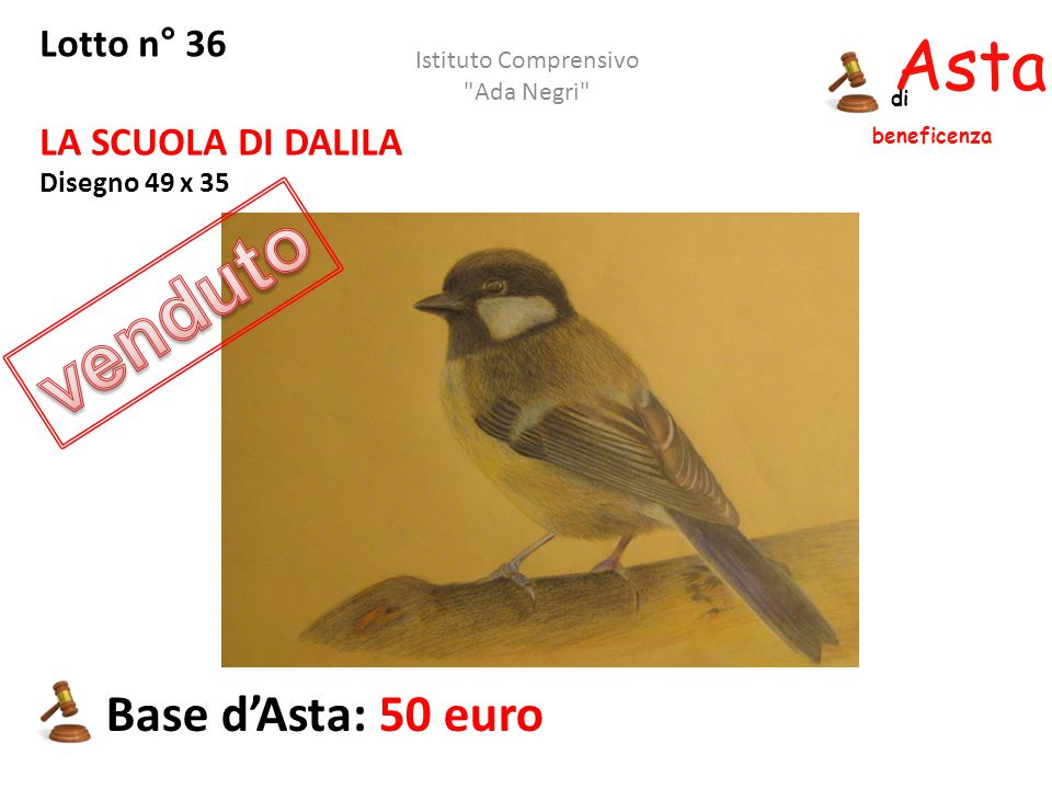 venduto Asta beneficenza Base d'Asta: 50 euro Lotto n° 36
