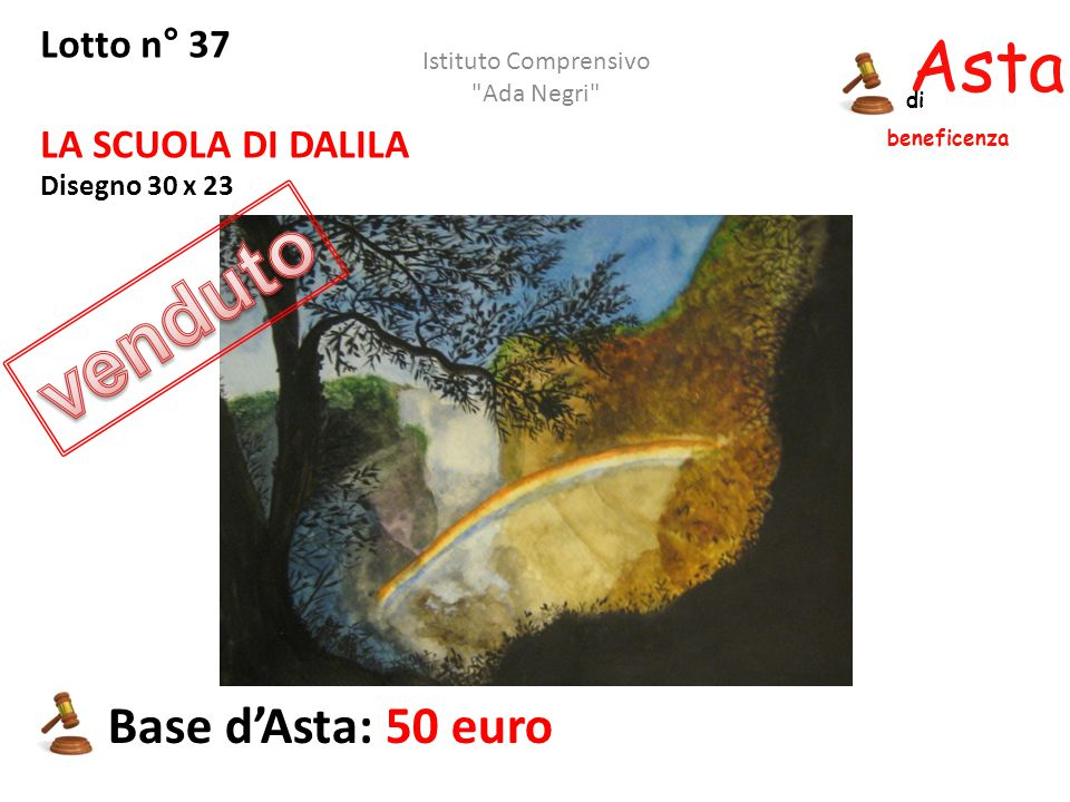 venduto Asta beneficenza Base d'Asta: 50 euro Lotto n° 37