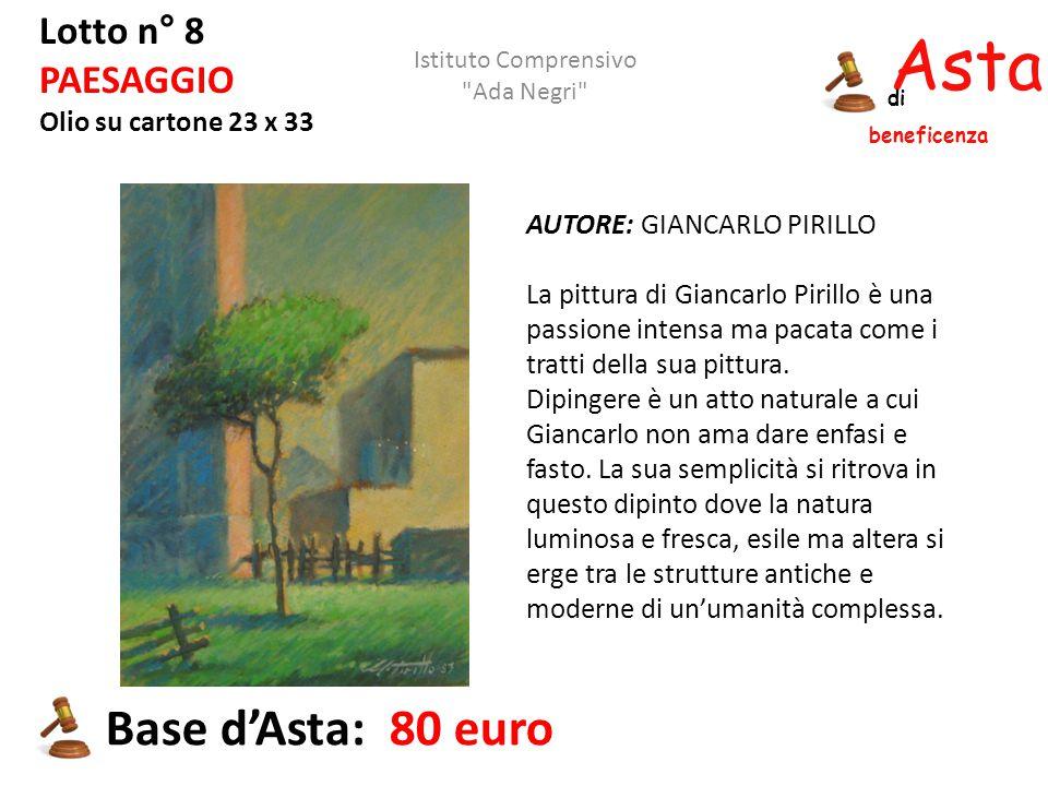 Asta beneficenza Base d'Asta: 80 euro Lotto n° 8 PAESAGGIO